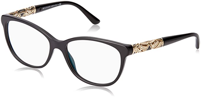 86d6eb52d56e1 Bvlgari Women s BV4126B Eyeglasses Black 53mm at Amazon Women s ...