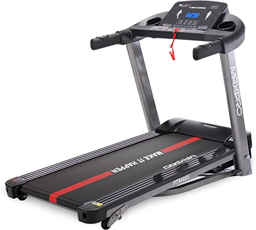 MAXPRO PTM405 2HP(4 HP Peak) Folding Treadmill, Electric Motorized Power Fitness Running Machine with LCD Display and Mobile Phone Holder...