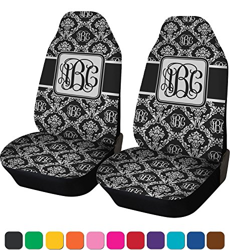 Amazon RNK Shops Monogrammed Damask Car Seat Covers Set Of Two Personalized Automotive