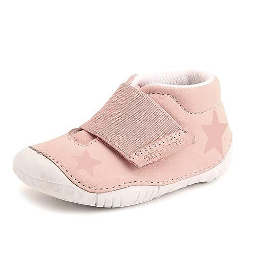 4bd65fe76b270 Start-rite Baby Star Pink Nubuck Leather Girls Velcro Pre-walkers G 4:  Amazon.co.uk: Shoes & Bags