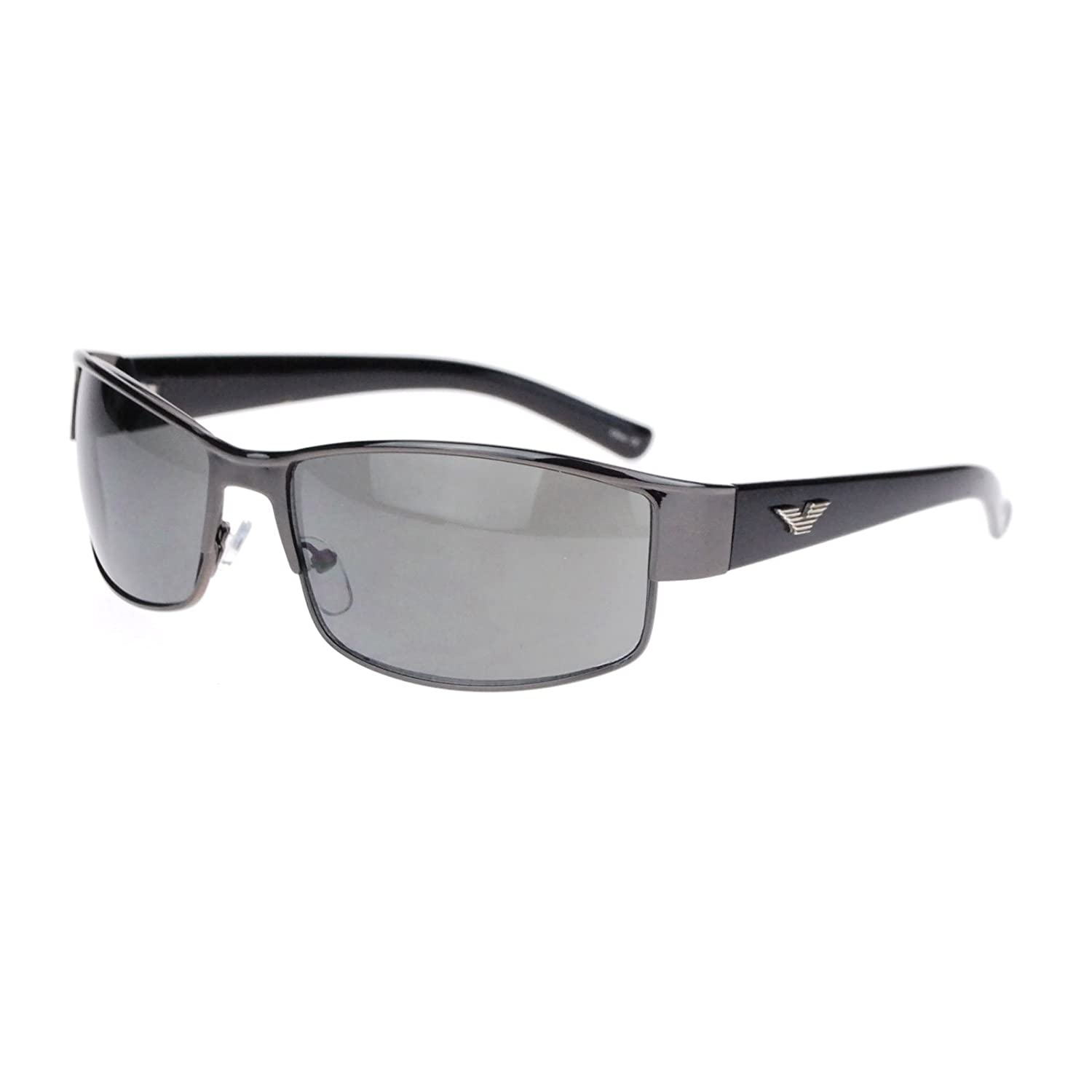 bd8364c7c48 on sale Mens Metal Designer Fashion Narrow Rectangular Luxury Agent  Sunglasses