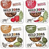 Wild Zora - 4 Flavor Meat and Veggie Bars Paleo Variety Pack, (Pack of 12)