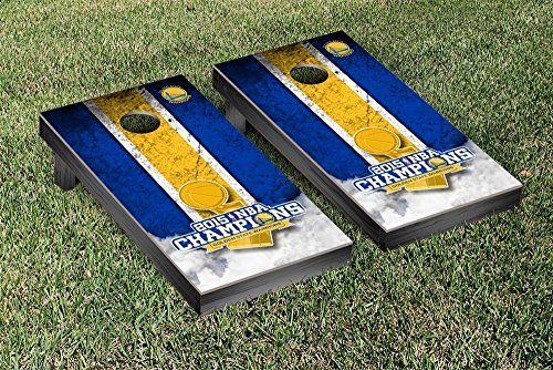 2015 NBA Champions Golden State Warriors Regulation Cornhole Game Set Vintage Version by Victory Tailgate
