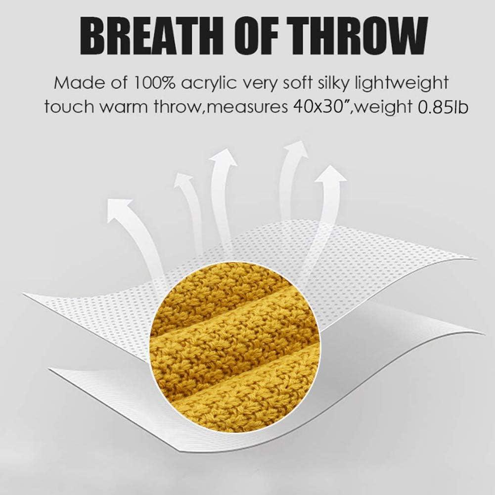amarillo mimixiong Manta de Punto 100/% acr/¨/ªlico y trenzado para beb/¨/¦ 80x100 cm