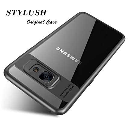 promo code 56f03 47fe2 STYLUSH Clear Back Lens Protector Case Cover for Samsung Galaxy J7 Max -  Black