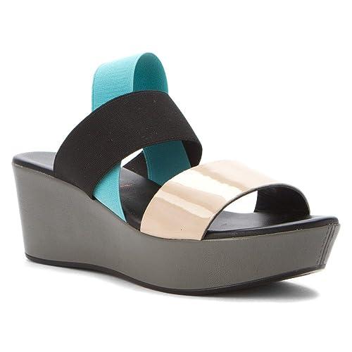 b9a99c038 NR Rapisardi Women s Lisa Black Turquoise Stone Fabric Sandal-38 EU   Amazon.ca  Shoes   Handbags