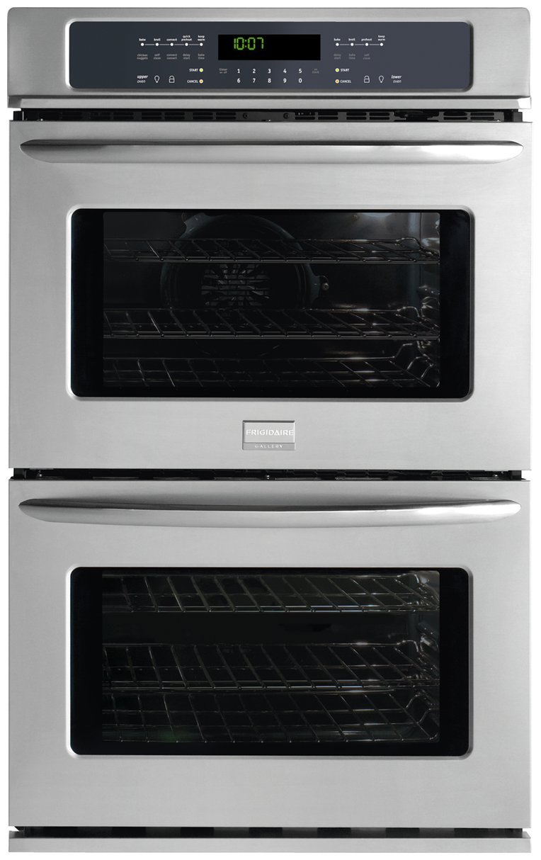 FGET2745KF Gallery Series 27'' Double Electric Wall Oven with 3.5 cu. ft. Upper True Convection Oven Convection Conversion One-Touch Self Clean and Star-K Certified Stainless