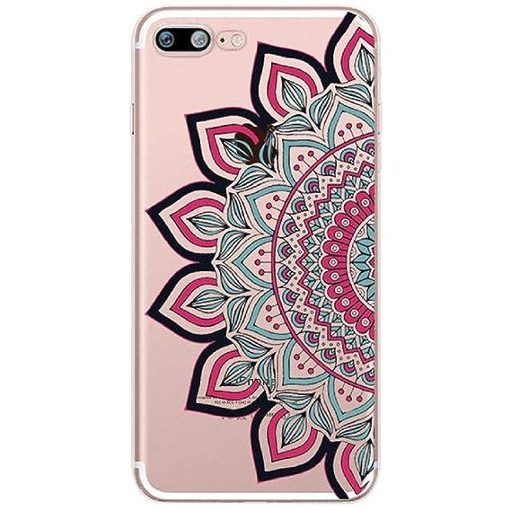 620ed4da996 Amazon.com: 1 PC Lace Mandala Flower Soft Silicone Clear TPU Phone ...