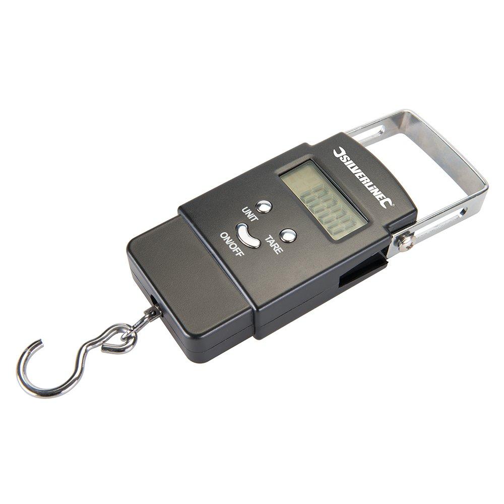 Silverline 243857 peson é lectronique de Poche 40 kg, Noir