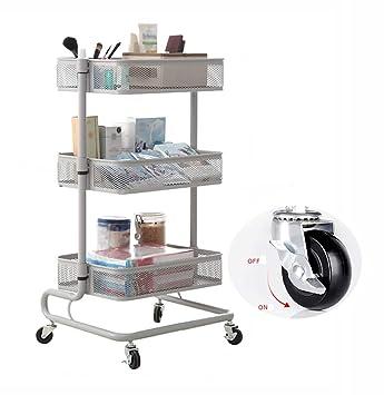 Amazon.com: XLong-Home - Estantería de cocina con ruedas ...