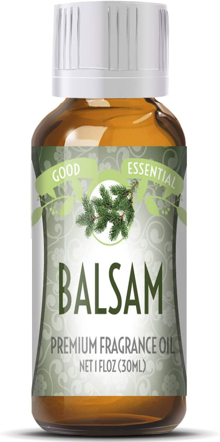 Balsam Scented Oil by Good Essential (Huge 1oz Bottle - Premium Grade Fragrance Oil) - Perfect for Aromatherapy, Soaps, Candles, Slime, Lotions, and More!