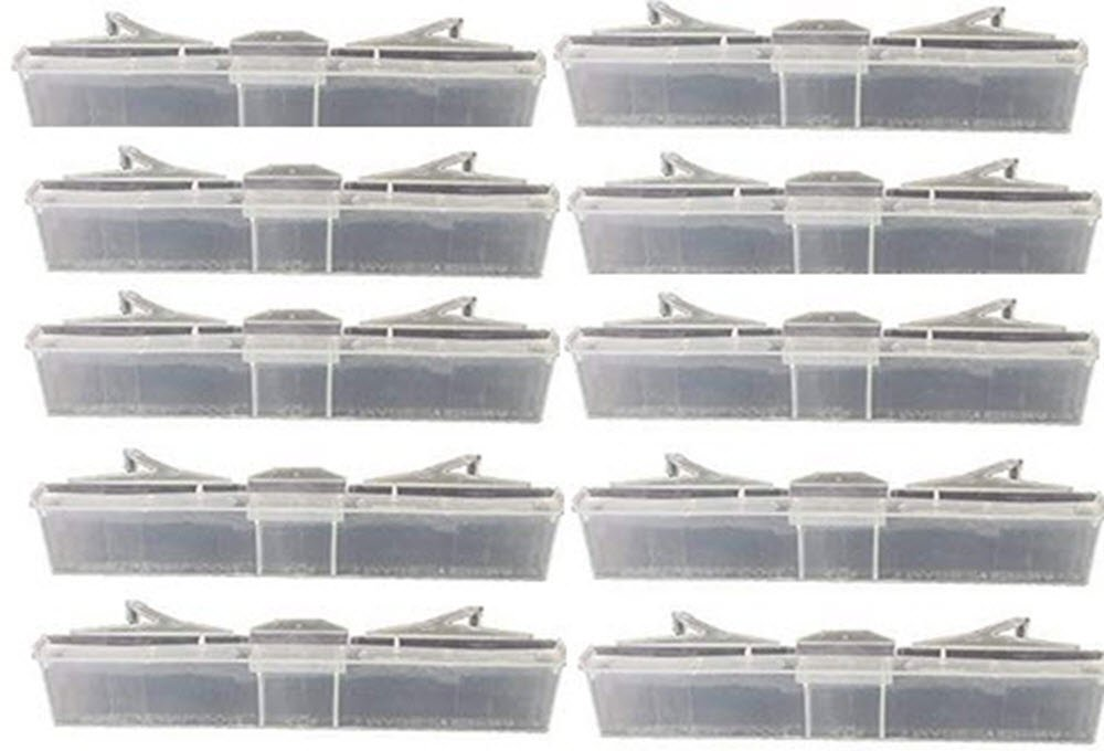 10X Baitable Beetle Jail Clear Plastic Small HIve Beetle Trap. No poisons, pesticides, safe for brood and all bees.