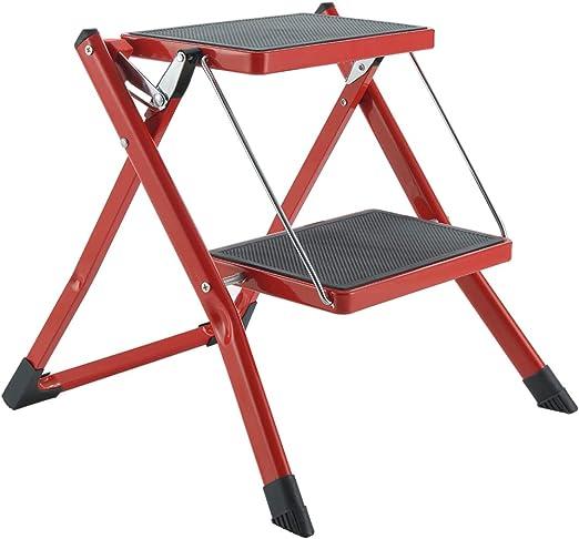 Gimify Escalerilla, Escalera Plegable Robusto 2 peldaños Mini ...