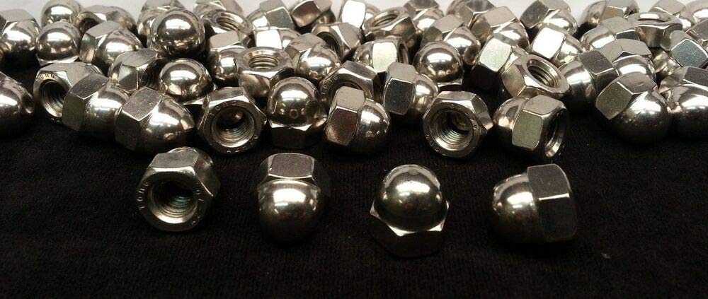(50) M10-1.5 or 10mm Acorn/Dome/Cap Hex Nut A2 Stainless Steel