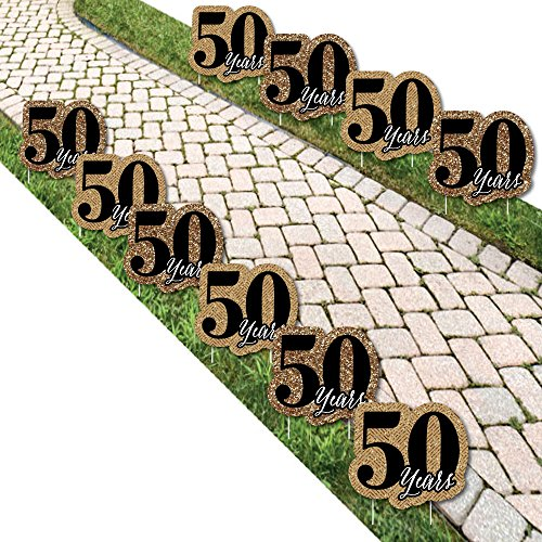We Still Do – 50th Wedding Anniversary Lawn Decorations – Outdoor Anniversary Party Yard Decorations – 10 Piece