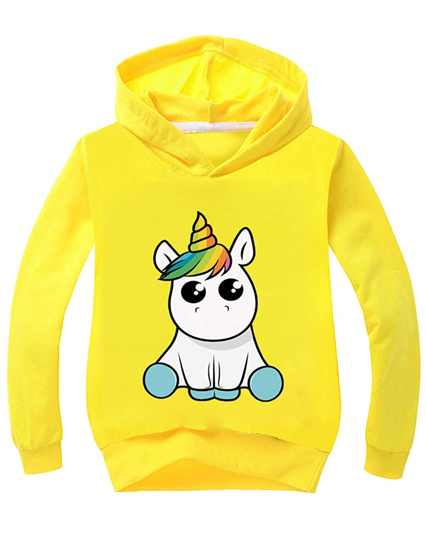 26c4fe0c997ff Pull Licorne Enfant Fille Manches Longues Automne Sweat  à Capuche Pas Cher  Mode Sweat-Shirt avec ...