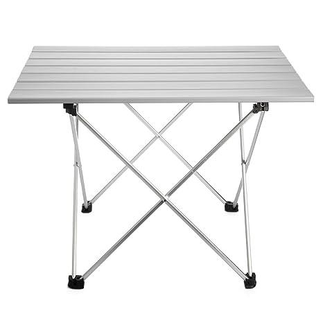 Tavolo Da Campeggio In Alluminio.Anpi Tavolo Da Campeggio Pieghevole In Alluminio Tavolino Portatile Da Picnic All Aperto Per Campeggio Escursionismo Viaggi Pesca Spiaggia Bbq