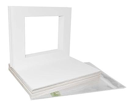 Amazon.com: Golden State Art Acid free, Pack of 25 11x14 White ...