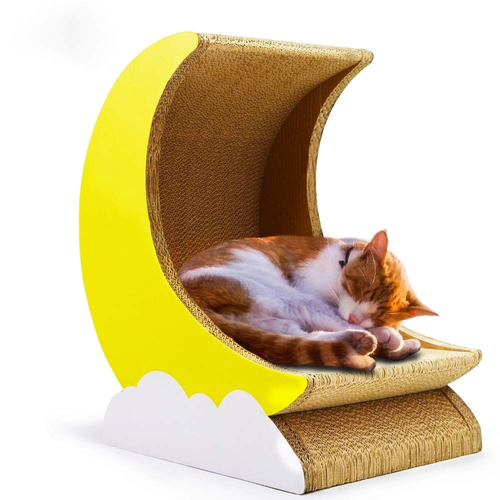 Cosmo's Own Moon Cat Scratcher | Corrugated Cardboard | Moon Shape Bed by Cosmo's Own