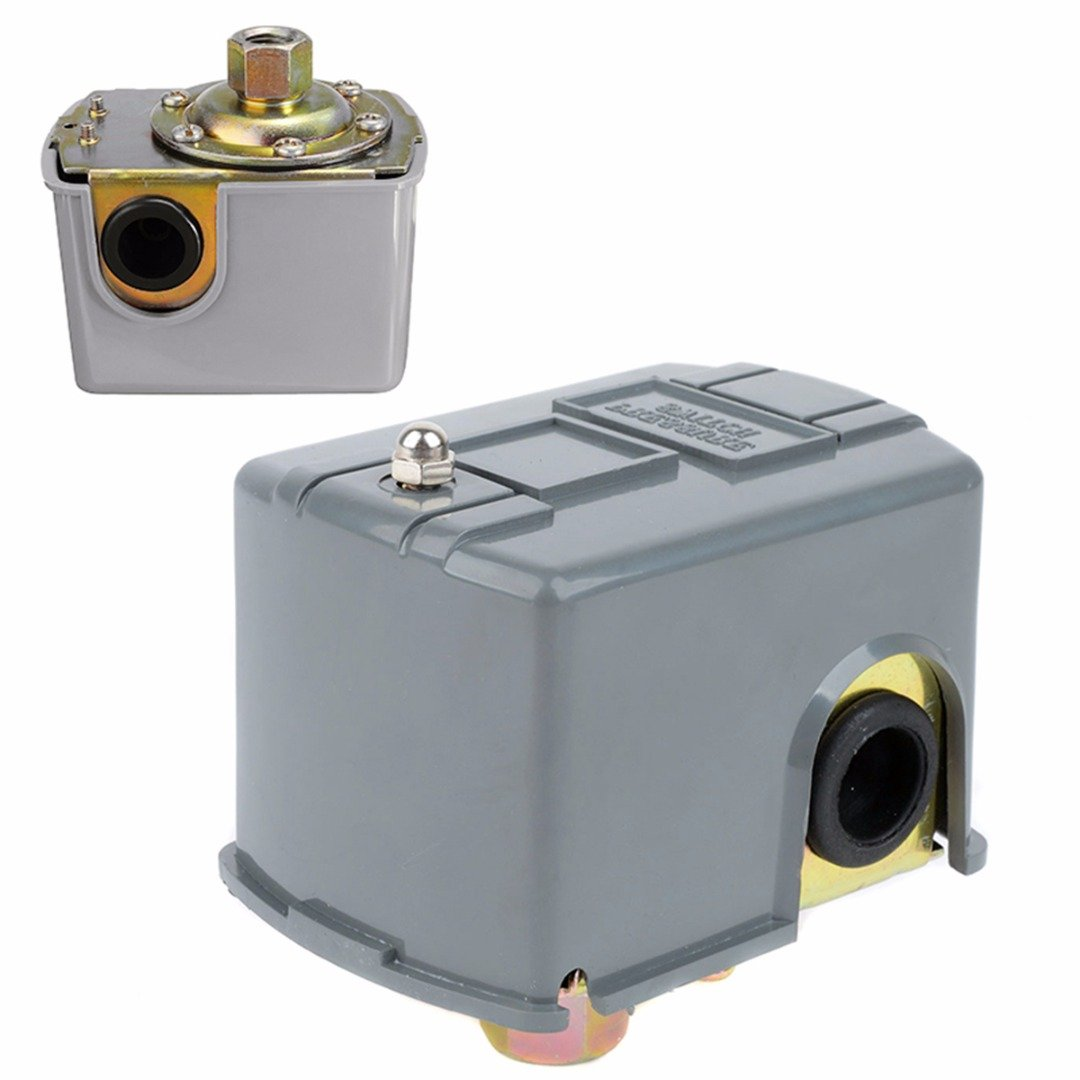 ERTIANANG Water Pump Pressure Control Switch 40-60psi Adjustable Double Spring Pole Switches For 1/4'' NPT