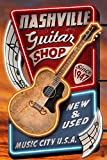 Acoustic Guitar Music Shop - Nashville, Tennessee (24x36 Collectible Giclee Gallery Print, Wall Decor Travel Poster)
