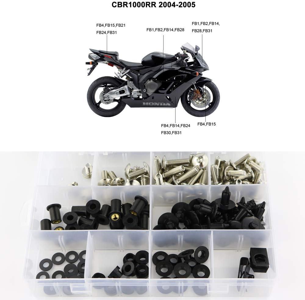 Fairings Kit Bolts Screws Set Bodywork For Honda CBR1000RR 2004 2005 Stainless