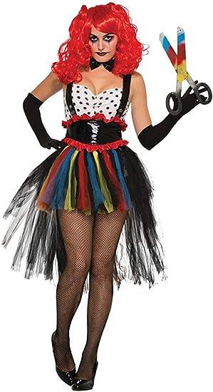 Forum Novelties 76975 mal mujer disfraz de payaso (UK 10 – 12 ...