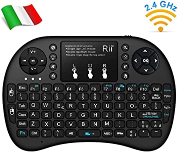 Madprice - Mini Teclado retroiluminado con ratón Touchpad para Smart TV, Mini PC, HTPC, Consola, Ordenador: Amazon.es: Electrónica