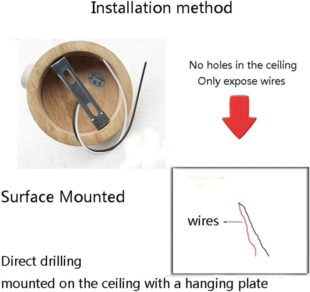 Drehbare Eisen-LED-Deckenleuchte-Oberflächen-hölzerne Korridor-Bett-Raum-Beleuchtung 03w 02b
