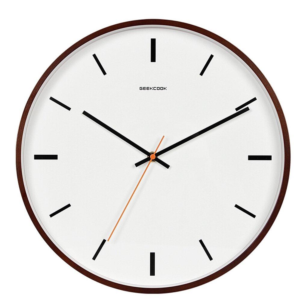 シンプルな木製中国スタイルの壁時計、中国スタイルのベッドルームのリビングルームサイレントクォーツ時計、パーソナライズメタルポインターラウンドクロック (Color : C, サイズ : 30.5cm) B07FQ766TX 30.5cm|C C 30.5cm