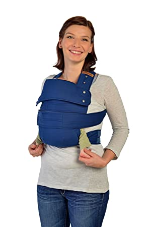 Marsupi Compact Front And Hip Baby Carrier Blue Ocean