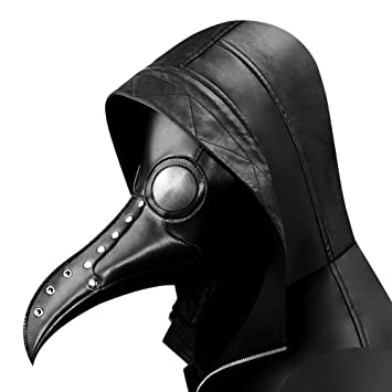 Amazon.com: QZY Rivets Steel Black Vulture Mask, Steampunk Plague ...