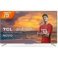 "Smart TV LED 75"" 4K Ultra HD TCL 75P715 3 HDMI 2 USB Android Wi-Fi Bluetooth"
