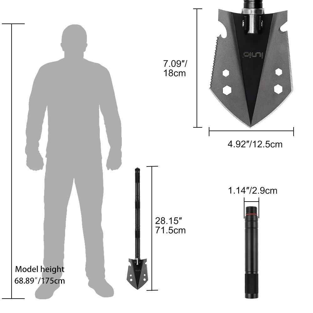 Amazon.com: IUNIO - Pala militar plegable portátil (28 ...