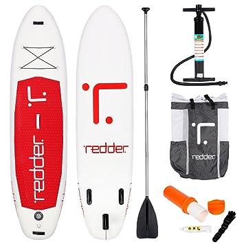 REDDER Tablas Paddle Surf Hinchables Nova Doble Capa UTOPIA All Round Tabla Stand Up Paddle - KIT con Bravo SUP3 Inflador, 100% Carbono Pala Ajustable ...