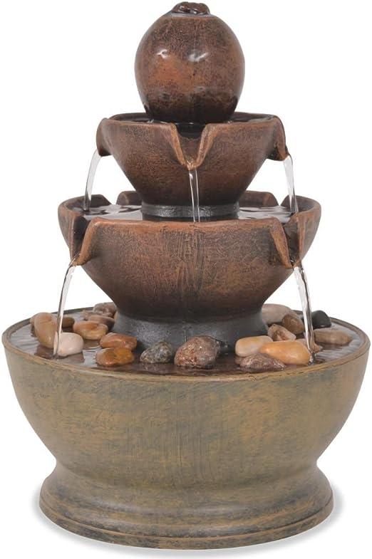 vidaXL Fuente Decorativa Interior Bomba Decoración Mesa Agua Acuática Hogar: Amazon.es: Jardín