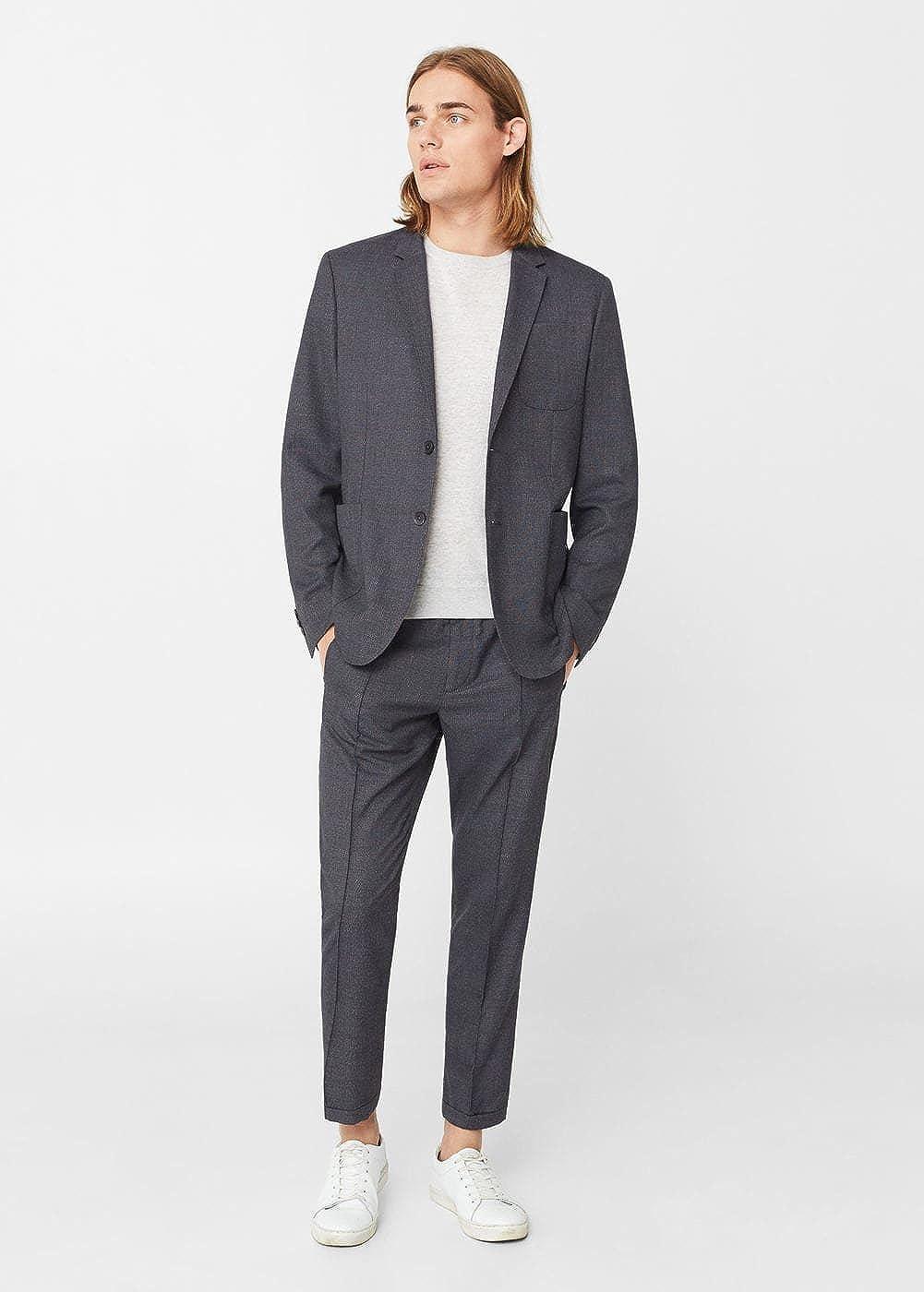 MANGO MAN - Chaqueta de traje - para hombre gris gris ...