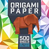 Origami Paper for kids and adults, 20 Colors 500 Sheets, double sided, 6-Inch by 6-Inch for Arts and Crafts Projects - ideal as a gift, a very unique gift