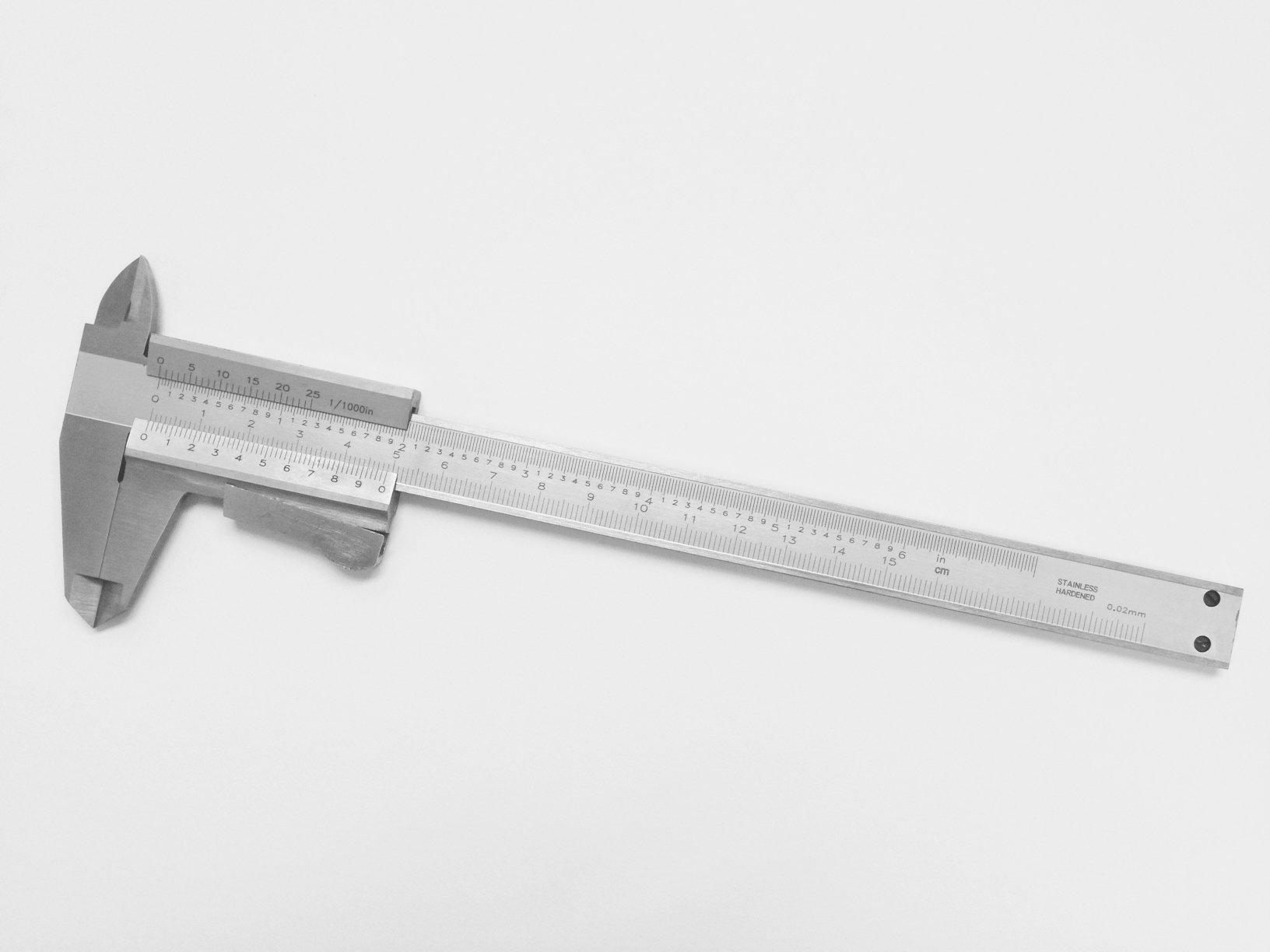 HHIP 4100-0004 Thumb Lock Vernier Caliper, 6''/150 mm by HHIP (Image #1)