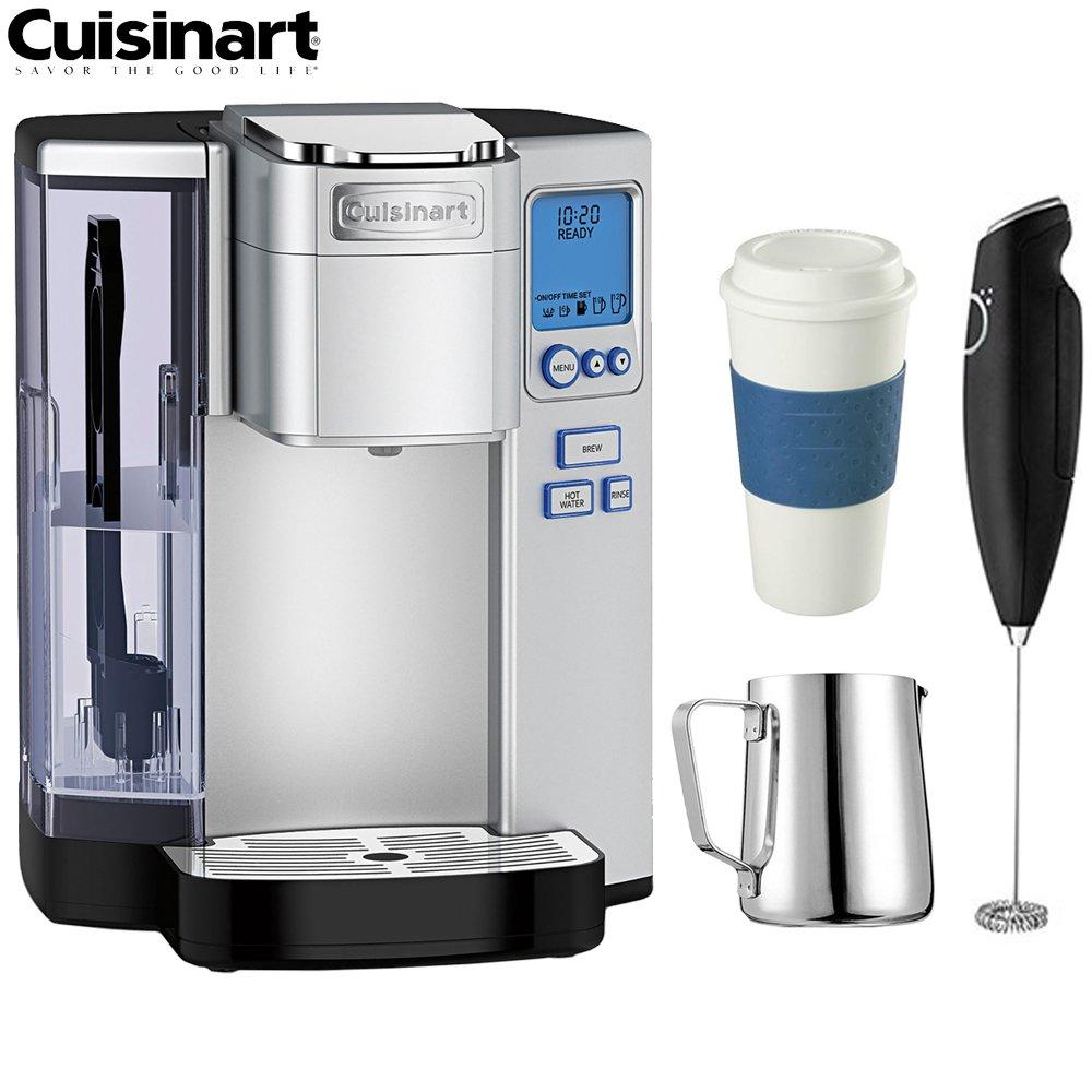 Cuisinart SS-10 Premium Single Serve Coffeemaker - (Certified Refurbished) w/Coffee Drinker Bundle
