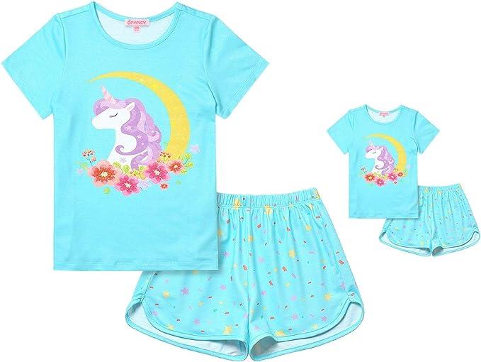 Bling Stars Toddler Kid Boys Girls Christmas Pjs Sleepwear Cotton Pajamas Sets