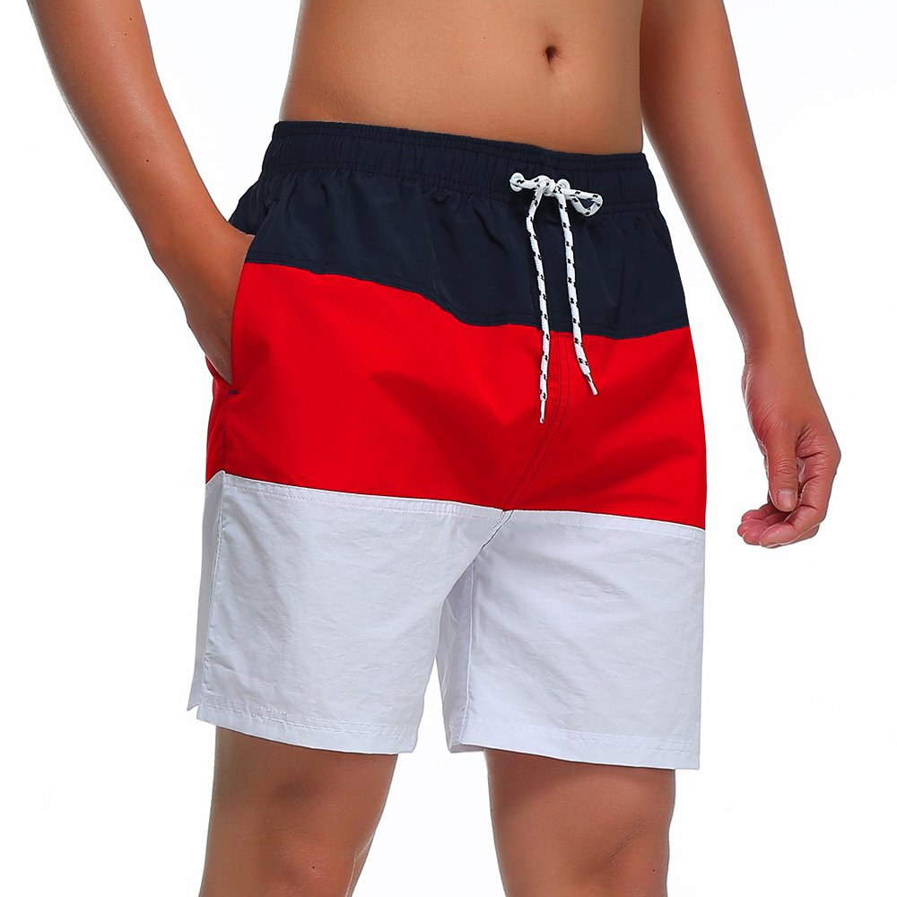MILANKERR MEN'S SWIM TRUNK,Red,Small by MILANKERR