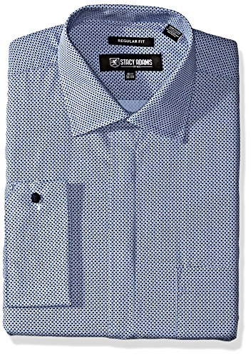 STACY ADAMS Mens Dot Print Classic Fit Dress Shirt