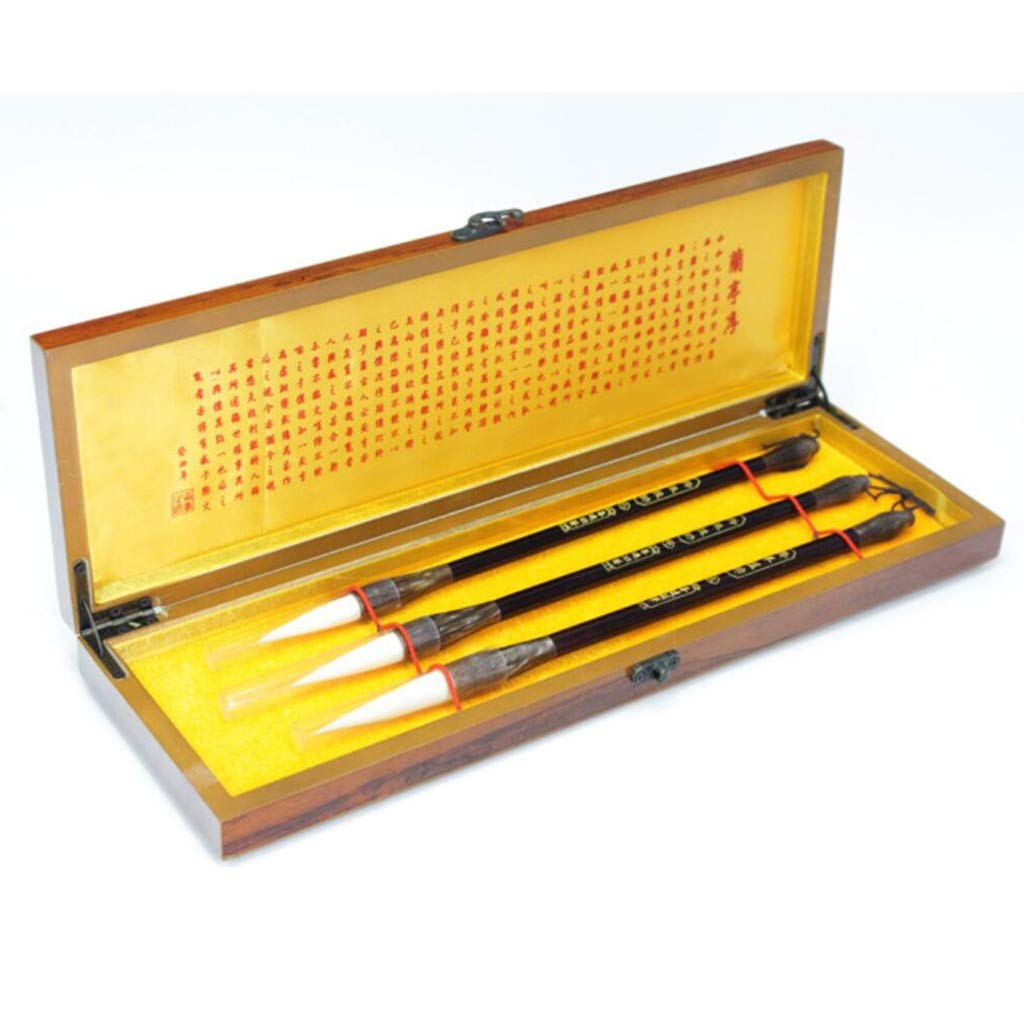 QTT Writing Brush, Wooden Gift Box Brush Set,Traditional Chinese Brush, Calligraphy and Painting Supplies by QTT