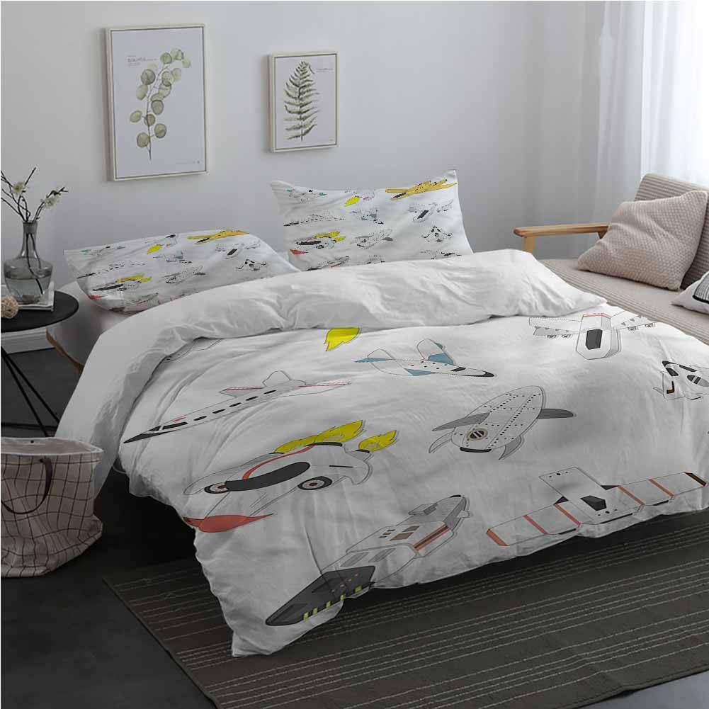AndyTours Boys Bedding Duvet Cover 3 Piece Set Traveling into The Space Twin Size Sheet Set Twin