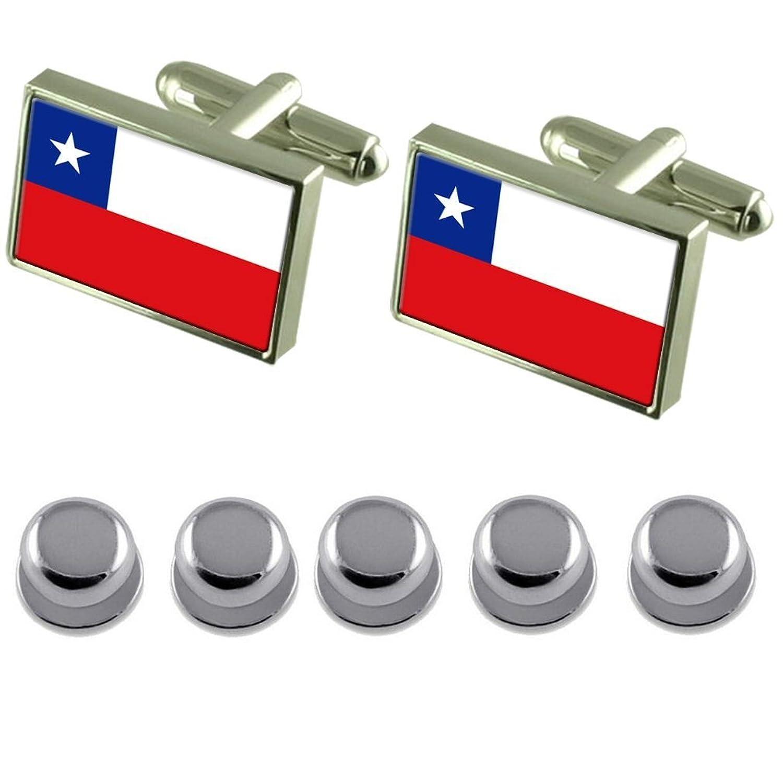 Shirt Dress Studs Chile Flag Cufflinks