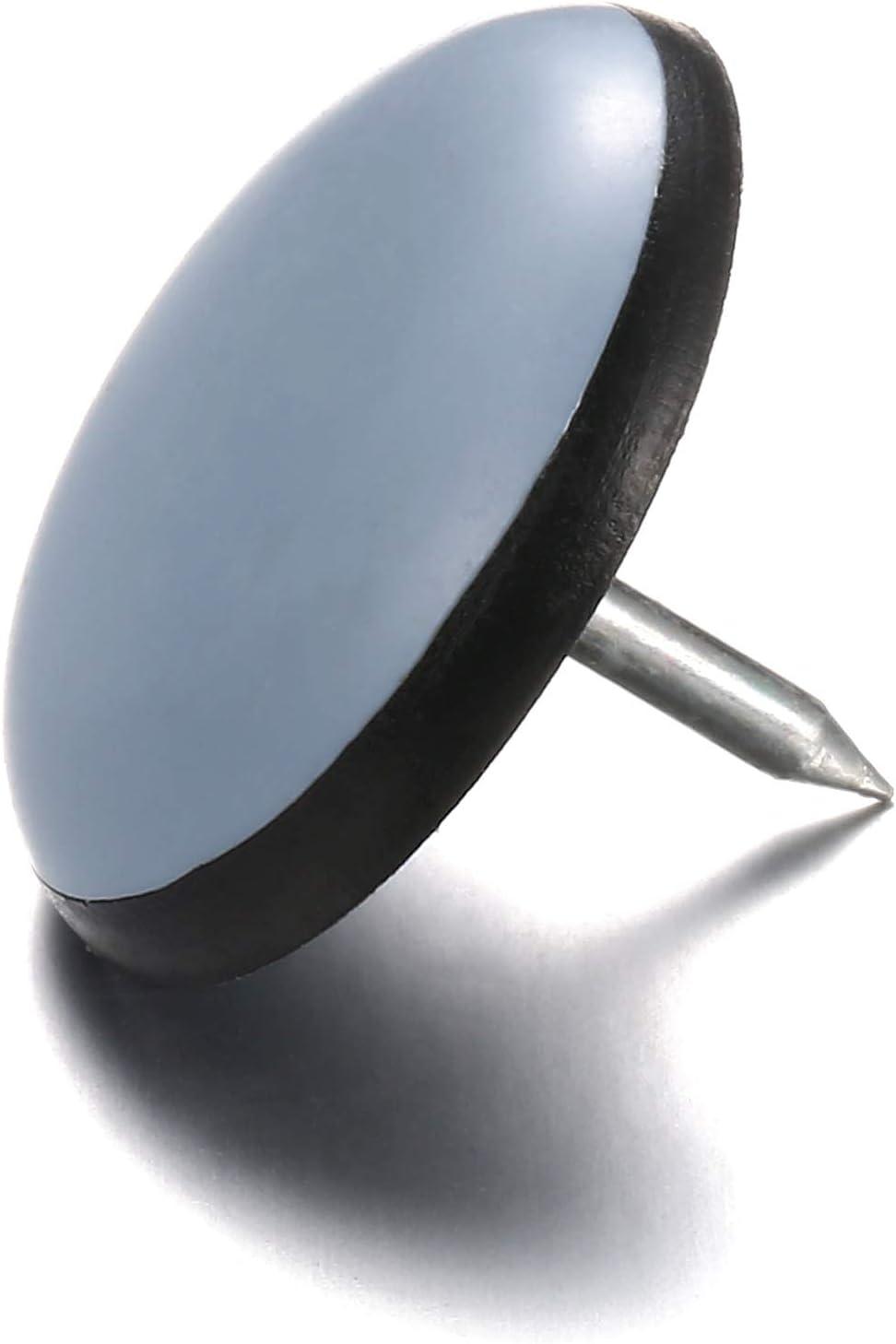 redondo u ovalado color natural o marr/ón 16 Deslizantes para muebles con superficie de deslizamiento de pl/ástico