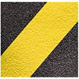 Jessup Safety Track 3360 Commercial Grade Non-Slip High Traction Safety Tape (60-Grit, Yellow and Black Striped, 6-Inch x -24-Inch, Pack of 24)