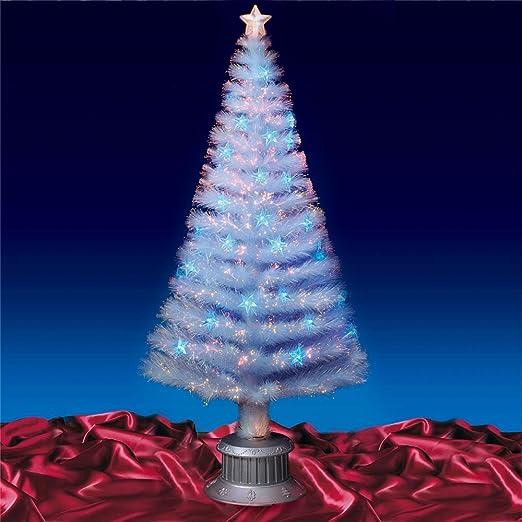5ft 160cm White Fibre Optic Christmas Tree Blue LED: Amazon.co.uk ...