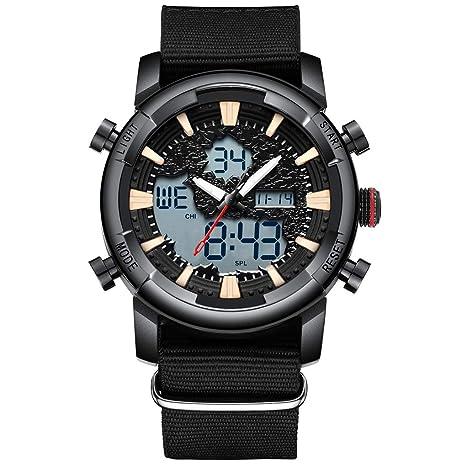 JL Reloj, Reloj de Cuarzo Impermeable para Hombres, Reloj táctico de Negocios de Ocio